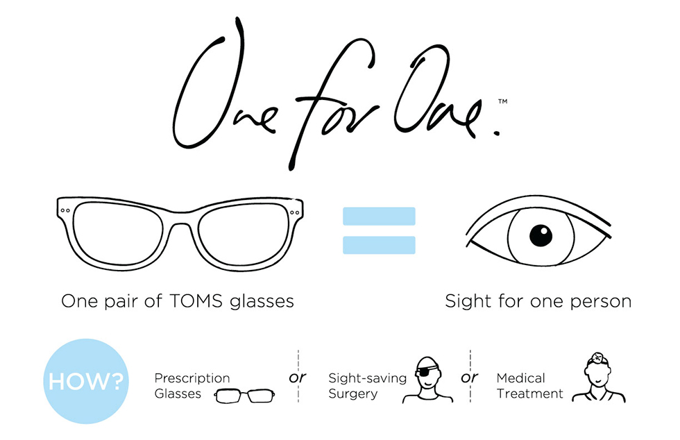 TOMS Eyewear Concept: One for One