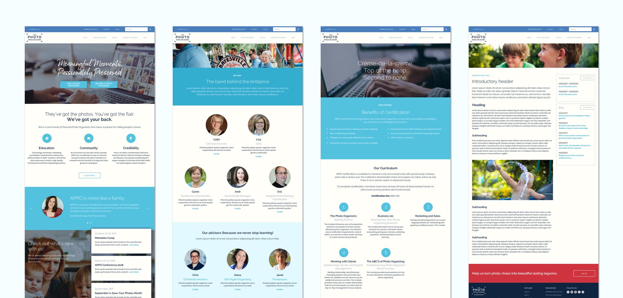 APPO Website User Interface