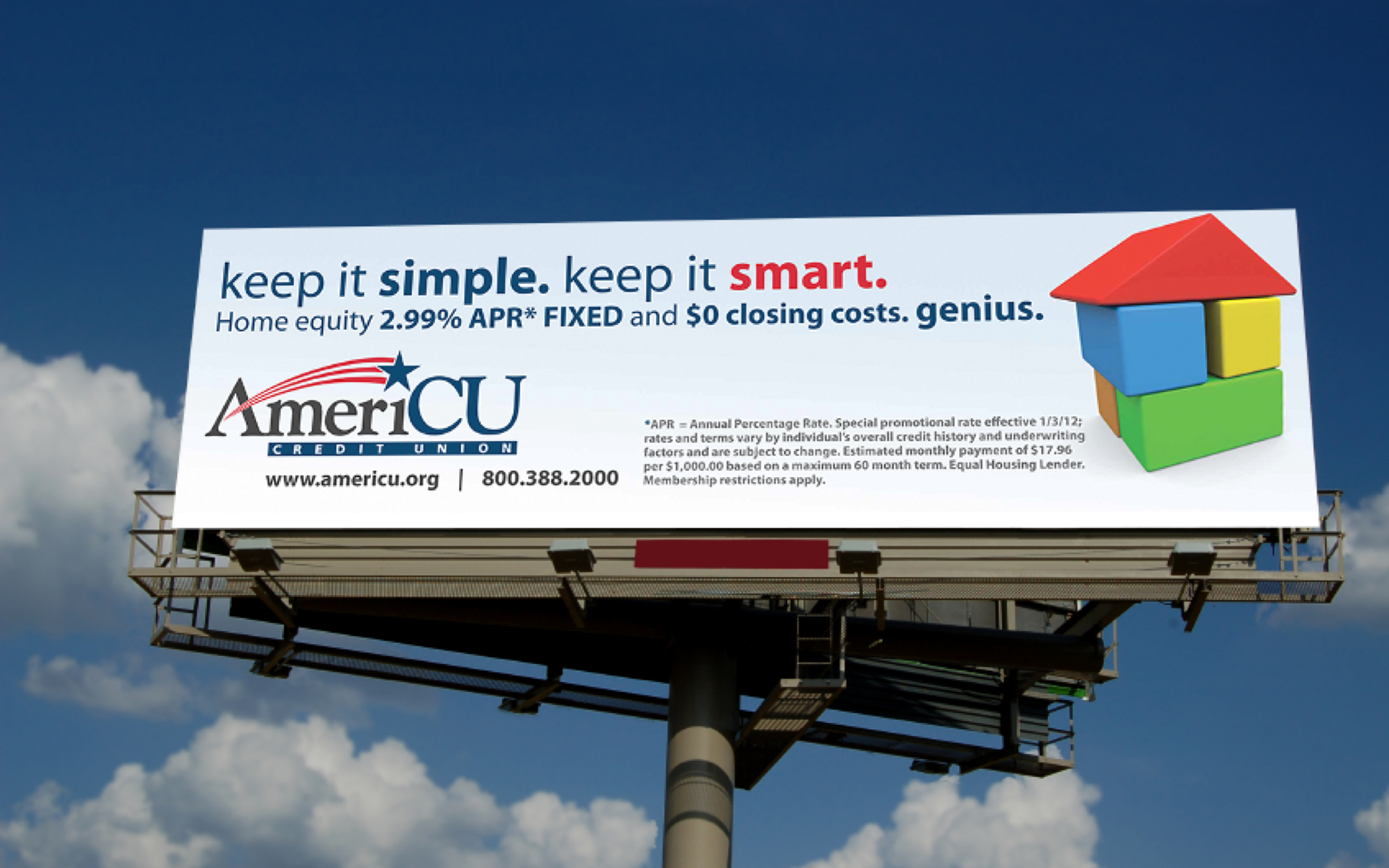 AmeriCU Home Equity Campaign Billboard