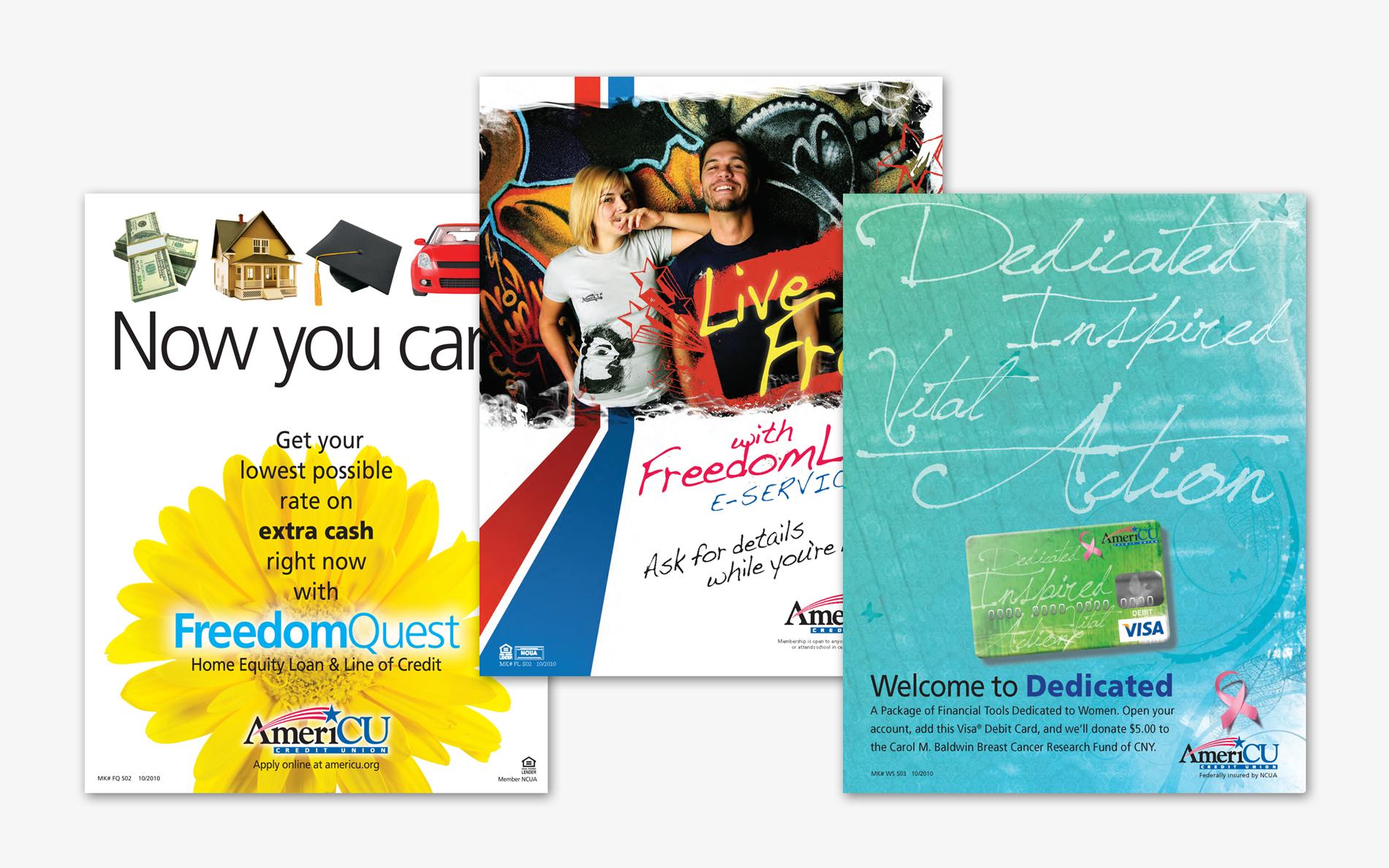 AmeriCU Campaign Posters, Before