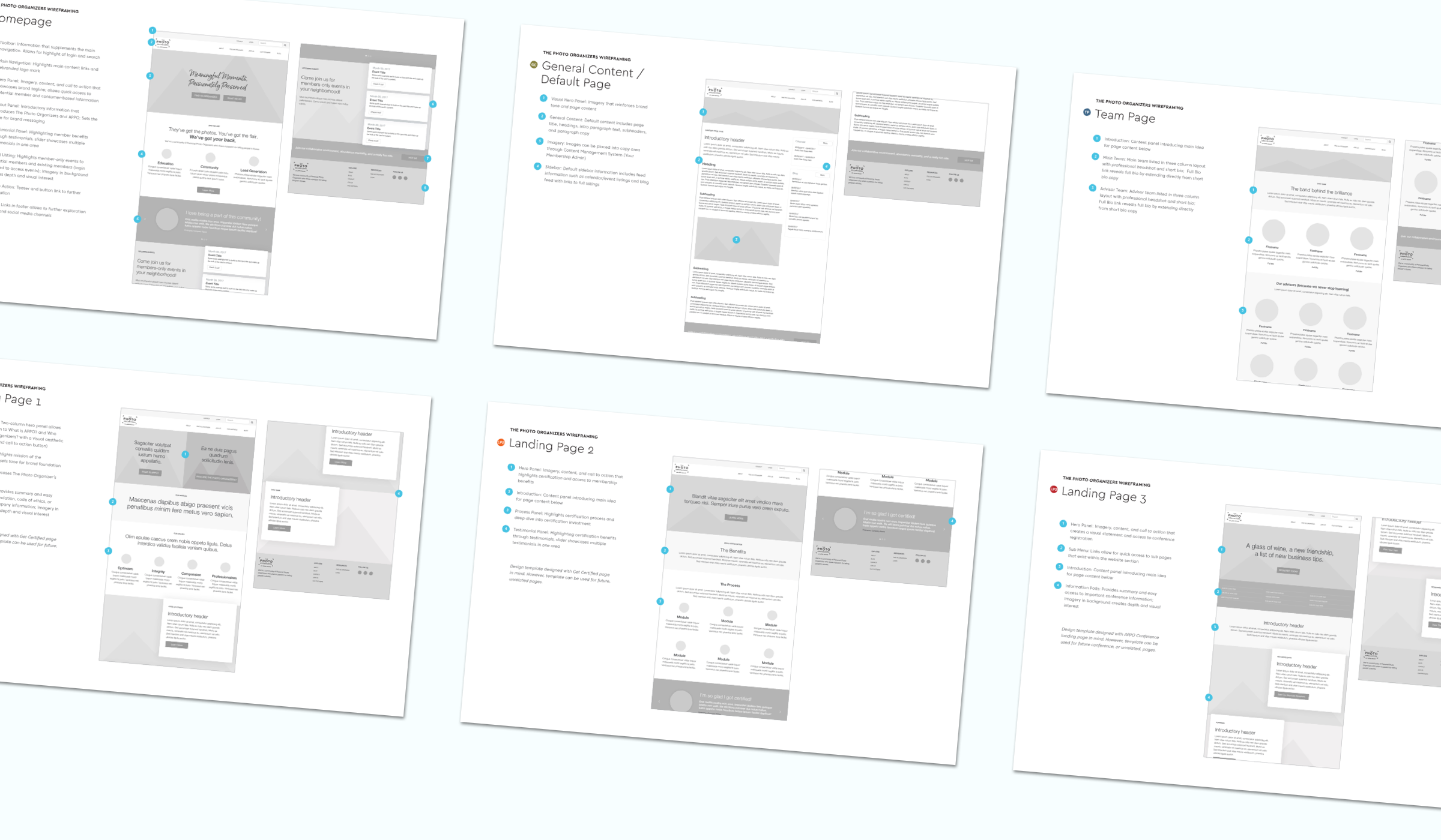 APPO Website Wireframe Templates